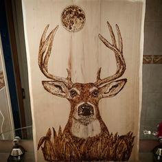 -Burning pen -Polttotyö -Pyrography Deer -Polttotyöt Peura Pyrography, Deer, Moose Art, Prints, Woodburning, Red Deer, Sambar Deer