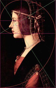 Fibonacci spiral in Leonardo da Vinci painting Fibonacci Golden Ratio, Fibonacci Spiral, Geometry Art, Sacred Geometry, Geometry Tattoo, Maths In Nature, Design Theory, Rule Of Thirds, Principles Of Art