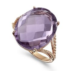 9.3 CT Oval Pink Amethyst Ring  Rose gold and amethyst are a perfect match!