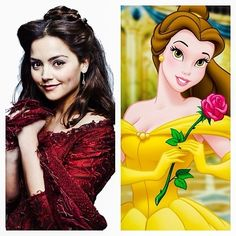Clara Oswald = Belle; Doctor Who companions and their Disney counterparts. Classic and New Who both included!