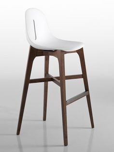 Beech stool GOTHAM W SG by CHAIRS MORE