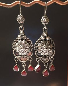 Carnelian Earring-Afghani Earring-silver Vintage by NajibJewellers