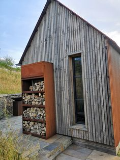 Bespoke details such as the log store make this cabin personal.