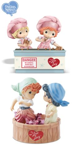 Handcrafted limited-edition I LOVE LUCY Precious Moments figurines recaptures Lucy in classic TV moments.