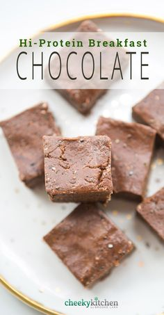 I love healthy food. But I don't always love eating healthy. Mostly, I crave chocolate and Trader Joe's Scandinavian Swimmers. But that is a secret I don't divulge online. Hi Protein Breakfast, Best Breakfast, Breakfast Recipes, Protein Snacks, Healthy Snacks, Protein Recipes, Eating Healthy, Clean Eating, Sugar Free Protein Bars