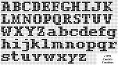 Letras pequeñas en punto de cruz para imprimir - Imagui