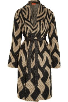 Missoni | Patterned mohair-blend cardi-coat | NET-A-PORTER.COM