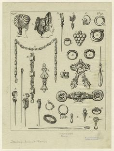 Ancient Roman jewelry and hairstyles.