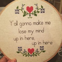 This poetry for when you're feeling a little stressed. | 26 Bold Cross Stitches You Need For Your Home