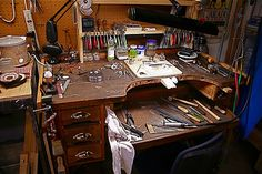 The bench | Flickr - Photo Sharing! This gives me an idea-woohoo! Think I'll see if it would be feasible to convert my Grammys old oak treadle sewing machine cabinet into a small work bench...likin' this a lot!