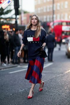 The Best of London Fashion Week Street Style, All in One Place via @WhoWhatWear