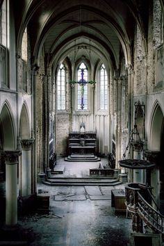 I Like To Enter Off Limit Area's And Make Amazing Images Of The Unique Views I Find There | Bored Panda An abandoned church in Belgium