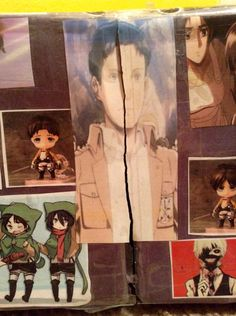 My friends awesome idea on how to open my gift box... *attack on titan
