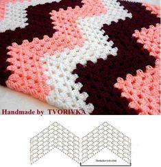 Best 8 Herringbone, Zig Zag Crochet Stitches for Free. V Stitch Crochet, Zig Zag Crochet, Crochet Ripple Blanket, Tapestry Crochet, Afghan Crochet Patterns, Crochet Motif, Crochet Designs, Crochet Stitches, Knitting Patterns
