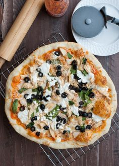 Buffalo Chicken Pizza with Goat Cheese