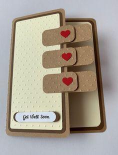 Card Ideas Discover Handmade Get Well Soon Card Sick Band-Aid Feel better Surgery Hospital Get Well Soon, Greeting Cards Handmade, Cards For Men Handmade, Fathers Day Cards Handmade, Get Well Cards, Kids Cards, Baby Cards, Folded Cards, Cute Cards