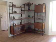 Retro Ladderax Teak Look Shelving System. 1corner Unit 2 Straight Sections