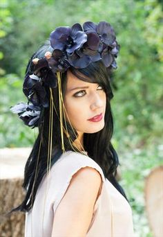 ORCHID FLOWER GARLAND HEAD BAND
