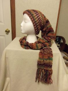 Hat/Scarf AllINOne Combo or Scat by JustLoomingAround on Etsy, $25.00