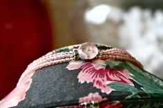 1950s Three Tiered Pink Glass Necklace