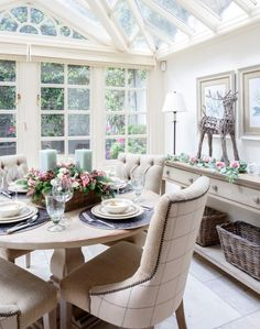 Traditional Conservatory with Scottish Tweed Chairs