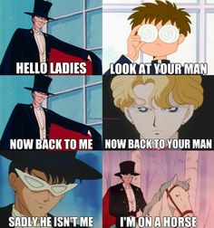 this is the funniest thing ever. because its true no one will ever be as good as tuxedo mask
