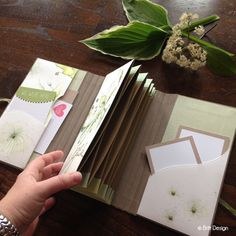 "The next workshop to go is here! (Britt design) - As already announced and promised, here comes the new ""Workshop to go"": A great utensil for your up - Mini Albums Scrap, Mini Scrapbook Albums, Scrapbook Cards, Diy Paper, Paper Crafts, Mini Album Tutorial, Diy Notebook, To Go, Handmade Books"