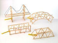 Een brug maken van ijsstokjes. Ook perfect te gebruiken voor techniek.