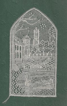 Designed by Annemarie Verbeke and Anny Noben-Slegers. Antique Lace, Vintage Lace, Fabric Stiffener, Bobbin Lacemaking, Types Of Lace, Lace Art, Point Lace, Linens And Lace, Needle Lace