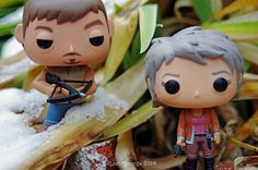 The Walking Dead PoP!Television Daryl and Carol from The Walking Dead Funko vinyl toys  #thewalkingdead #pop!television #funko