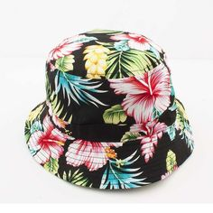 93def84b2ce Free Shipping 2016 Black Colorful Floral Print Bucket Hats Floral Fishing  Caps For Women Ladies Mens-in Bucket Hats from Women s Clothing    Accessories on ...