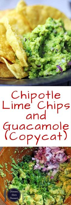 the Barbacoa Beef Burrito, now you can enjoy the Chips and Guacamole that go with it! Salty Lime Tortilla Chips just like you love at Chipotle served with their authentic guacamole. You'll never want premade chips or dip again! Gouda, Chipotle Menu, Comida Tex Mex, Tostadas, Authentic Guacamole Recipe, Enchiladas, Chipotle Copycat Recipes, Recipes, Tasty