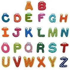 Wooden Fridge Magnet Gift A-z 26 Letters Big Size Magnet Education Learn Cute Kid Baby Toy Alphabet Magnets, Wooden Alphabet, Magnetic Letters, Abc Alphabet, 26 Letters, Happy Baby, Happy Kids, Letter Learning Games, Kindergarten Age