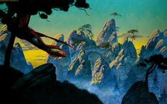 The Roger Dean Gallery is the online home of iconic album cover artist Roger Dean. Browse the galleries, shop fine art prints, original paintings and sketches, or keep up to date with Roger's events and exhibitions in Patrick Nagel, Yes Album Covers, Roger Dean, 70s Sci Fi Art, English Artists, Mountain Paintings, Science Fiction Art, Fantasy Landscape, Fantasy Art