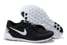 a71fcb103e1cc 2015 Nike Free Run 5.0 Men Black White Cheap Nike Shoes Online