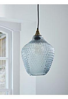 Embossed Glass Pendant - Grey - Ceiling Lights - Lighting
