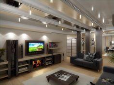 Дизайн гостиной Flat Screen, Blood Plasma, Flatscreen, Dish Display