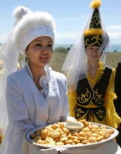 I'm WAY not from Krygyzstan, but I really think it would be awesome to get married like this! I want the hat!    kyrgyzstan