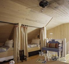 Beds in the attic...