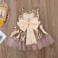 Princess Kids Baby Girls Sequins Dress Sleeveless Toddler Baby Party – I sell what I love