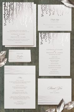 Cascading foil-pressed wedding invitations from Minted. http://www.minted.com/product/foil-pressed-wedding-invitations/MIN-OU5-IFS/cascade