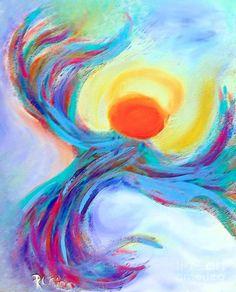 Angel Art Painting - Heaven Sent Digital Art Painting by Robyn King