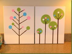 Graphic trees--very easy--not sure where I would put them, though??
