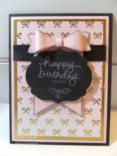 August 2015 alternative card with sentiment from Dec 2014 Paper Pumpkin #stampinup #paperpumpkin #bowbuilderpunch