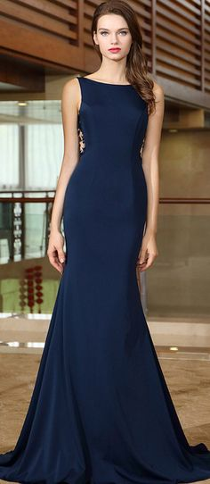 eDressit Blue Mermaid Evening Dress