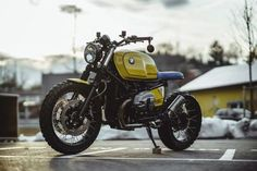 BMW R nineT Brat Style with vintage tank by NCT Motorcycles - Photos by Peter Pegam #motorcycles #bratstyle #motos | caferacerpasion.com