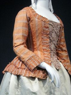 Caraco jacket, LACMA, c. 1760 (altered 1780)