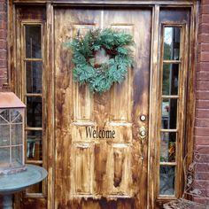 1000 images about woodgrain look metal doors on pinterest for Painting a metal door to look like wood