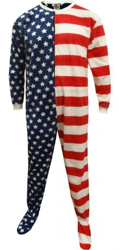 American Flag Footie Pajama