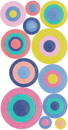 Polka Dot Wall Decals – Set of 12 Circle Peel and Stick Stickers – Precious Collection Polka Dot Room, Polka Dot Wall Decals, Polka Dot Walls, Polka Dots, City Wall Stickers, Room Wall Painting, Crochet Carpet, Love Wall, Little Girl Rooms